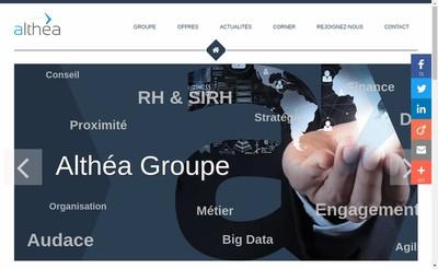 Site internet de Althea Groupe