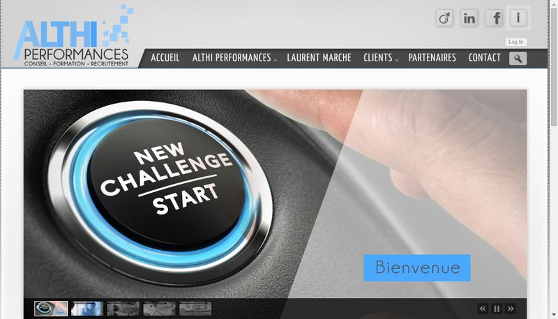 Capture d'écran du site de Althi Performances