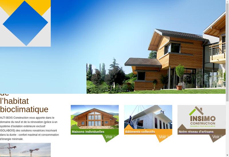 Capture d'écran du site de Alti Bois Construction