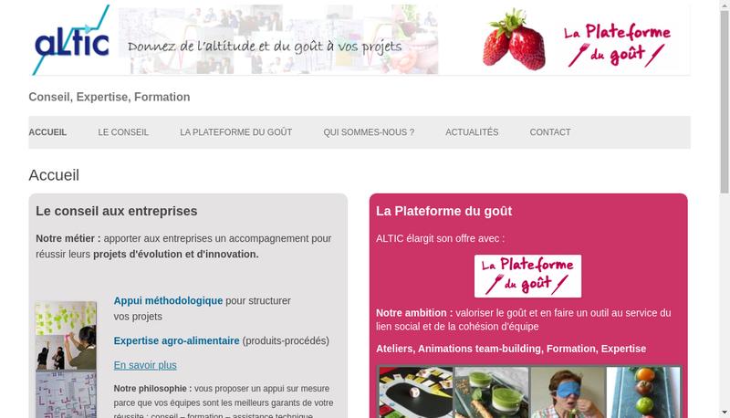 Capture d'écran du site de Altic