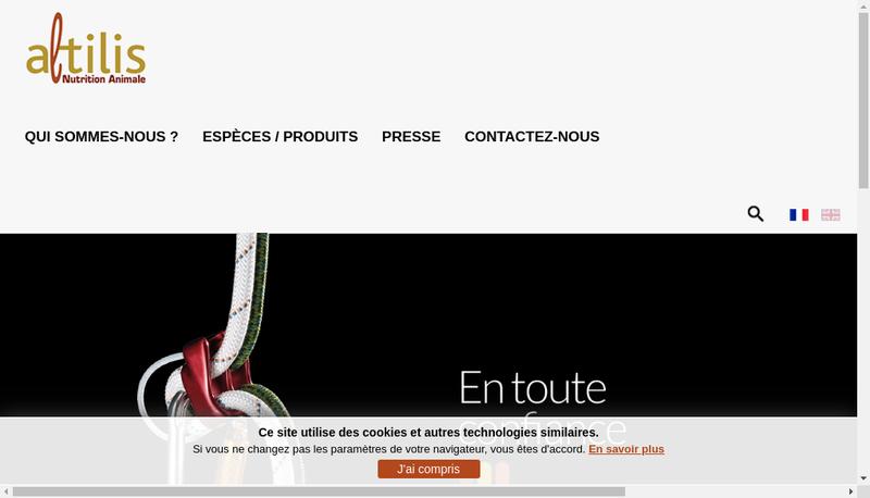 Capture d'écran du site de Altilis Nutrition Animale