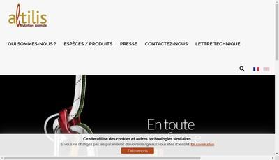 Site internet de Altilis Nutrition Animale