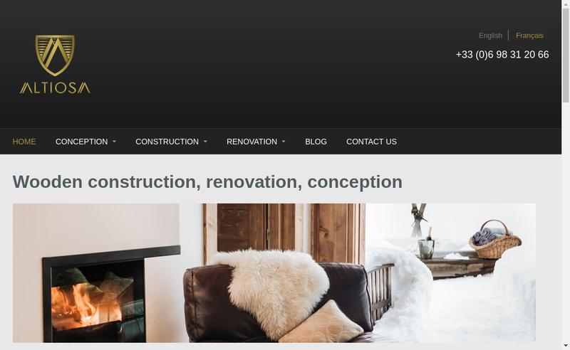 Capture d'écran du site de Altiosa