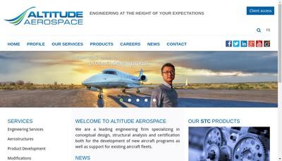 Site internet de Altitude Aerospace France