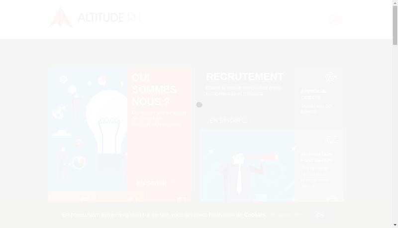 Capture d'écran du site de Altitude Rh