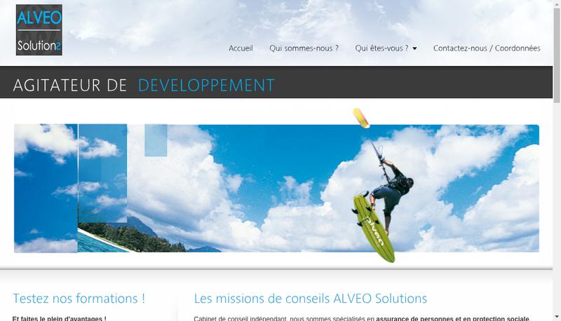 Capture d'écran du site de Alveo Solutions