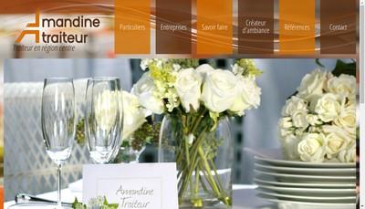 Site internet de Amandine Traiteur