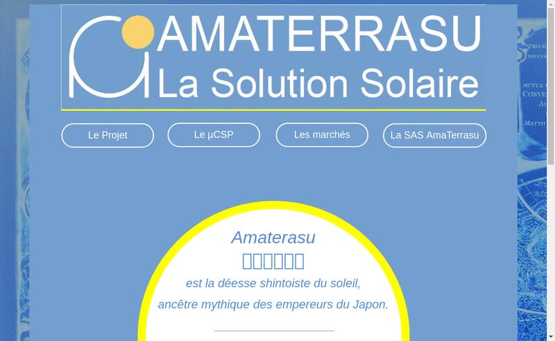 Capture d'écran du site de Amaterrasu