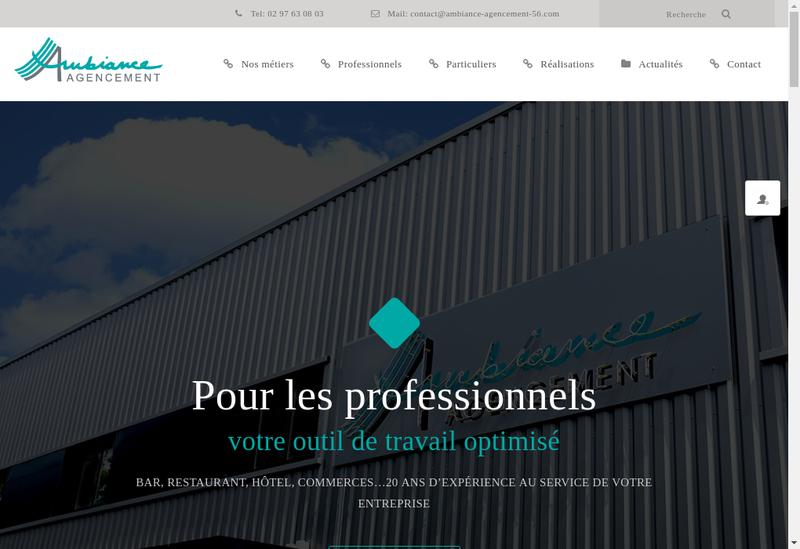 Capture d'écran du site de Ambiance Agencement