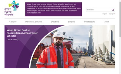Site internet de Amec Foster Wheeler France
