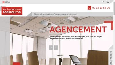 Site internet de Amenagement Malitourne