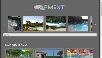 Capture d'écran du site de Amext