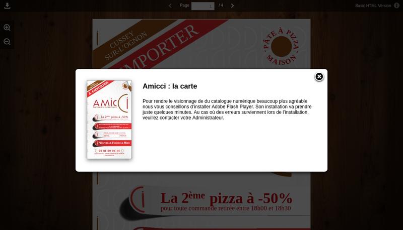Capture d'écran du site de Amicci