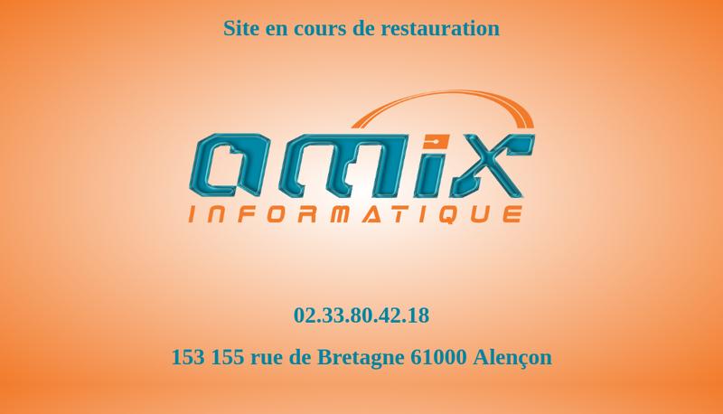 Capture d'écran du site de Amix Informatique