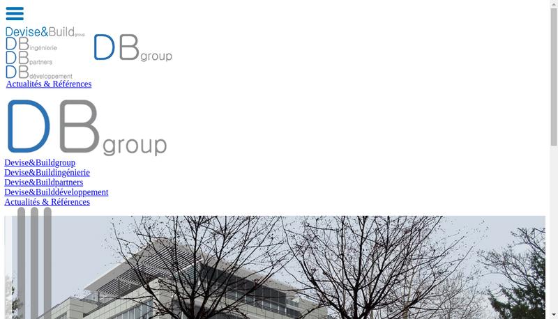 Capture d'écran du site de Devise&Build Ingenierie