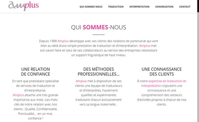 Site internet de Amplus
