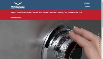 Capture d'écran du site de Societe Amsec