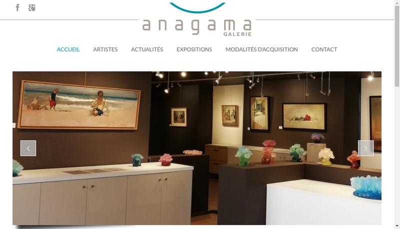 Capture d'écran du site de Anagama