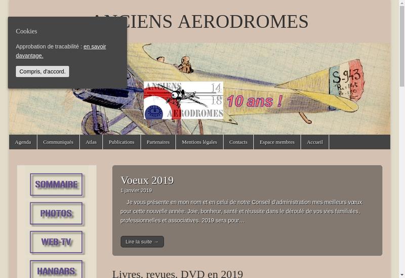 Capture d'écran du site de Anciens Aerodromes