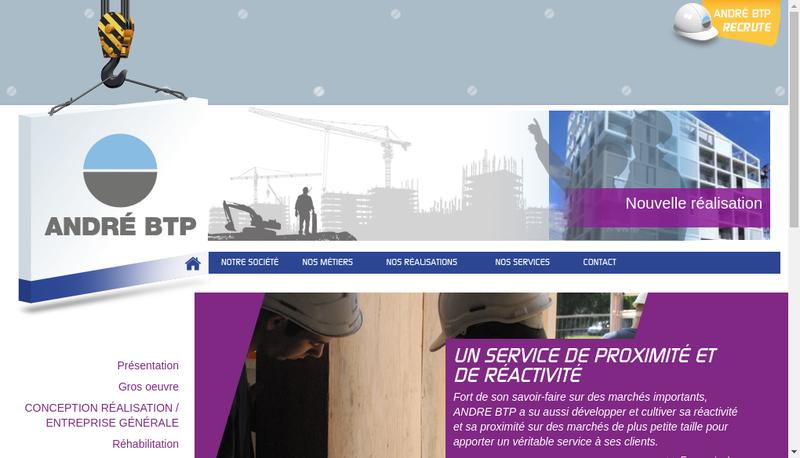 Capture d'écran du site de Andre Btp