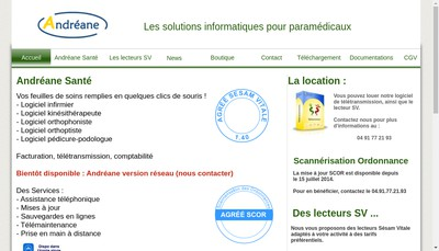 Site internet de Andreane