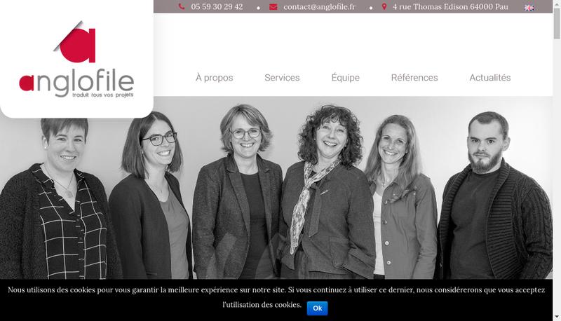 Capture d'écran du site de Anglo File