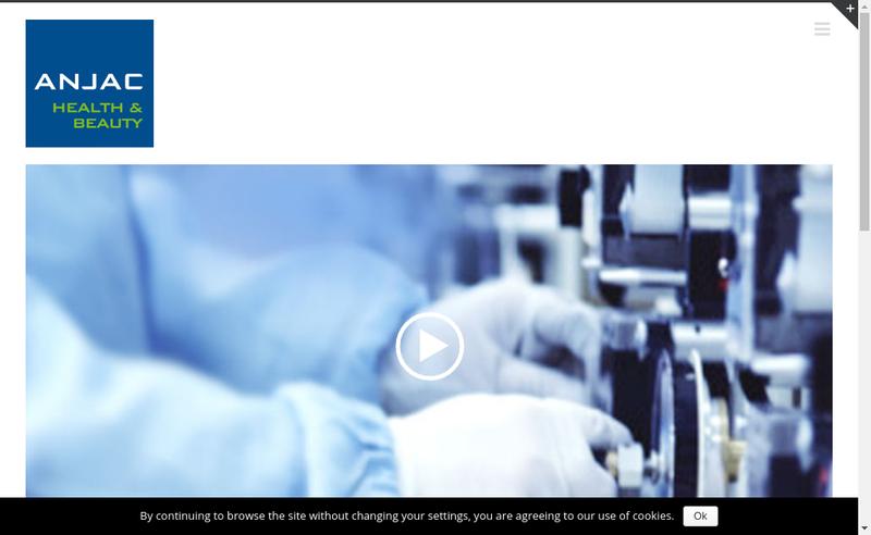 Capture d'écran du site de Anjac