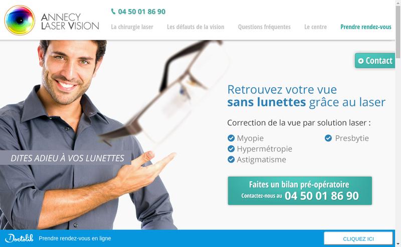 Capture d'écran du site de Annecy-Laser-Vision