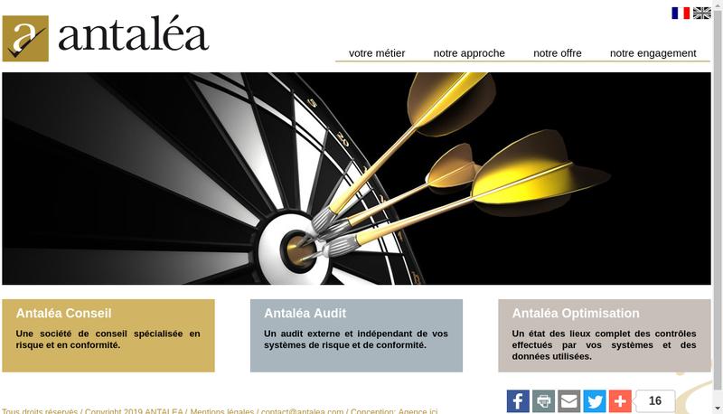 Capture d'écran du site de Antalea