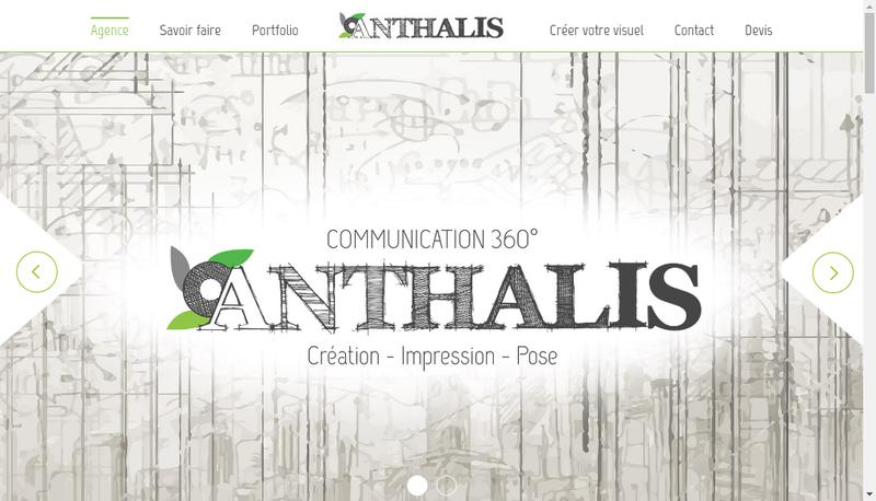 Capture d'écran du site de Anthalis Communication 360