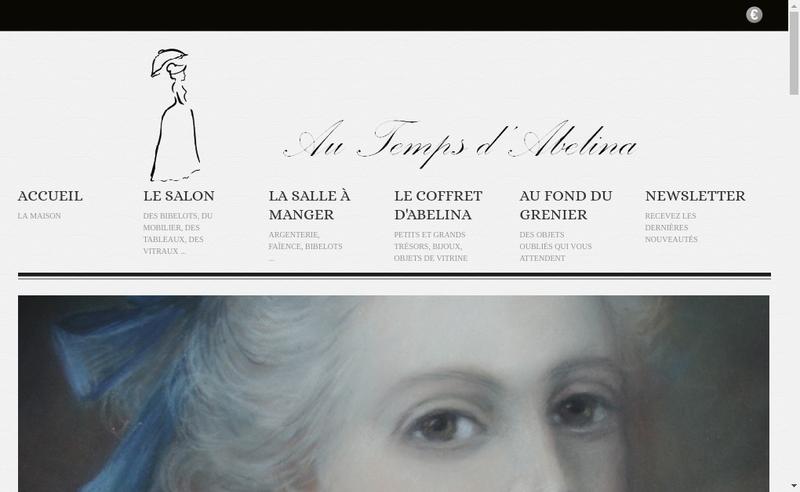 Capture d'écran du site de Laura Beccavin
