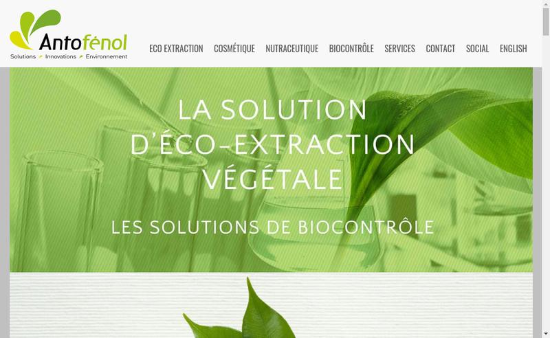 Capture d'écran du site de Antofenol