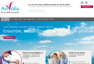 Capture d'écran du site de Anvolia