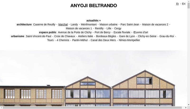 Capture d'écran du site de Anyoji Beltrando SARL d'Architecture