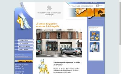 Site internet de Aod Appareillage Orthopedique Dussac