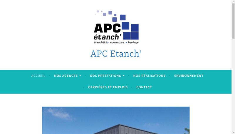 Capture d'écran du site de Apc Etanch Grand Lyon