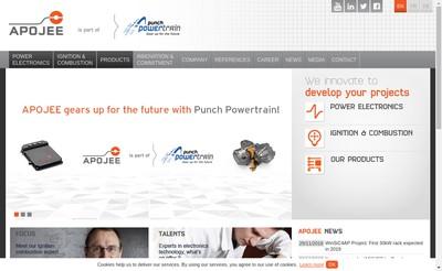 Site internet de Punch Powertrain France
