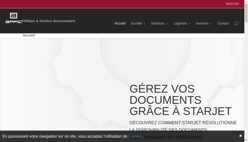 Capture d'écran du site de Appic