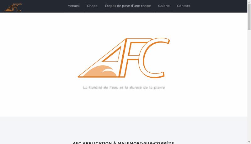 Capture d'écran du site de Afc Application