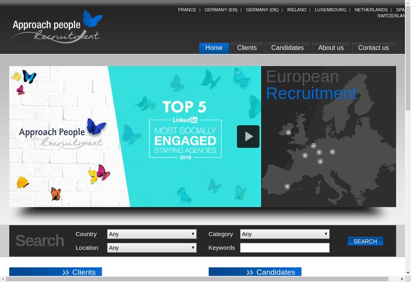 Capture d'écran du site de Approach People Recruitment SARL
