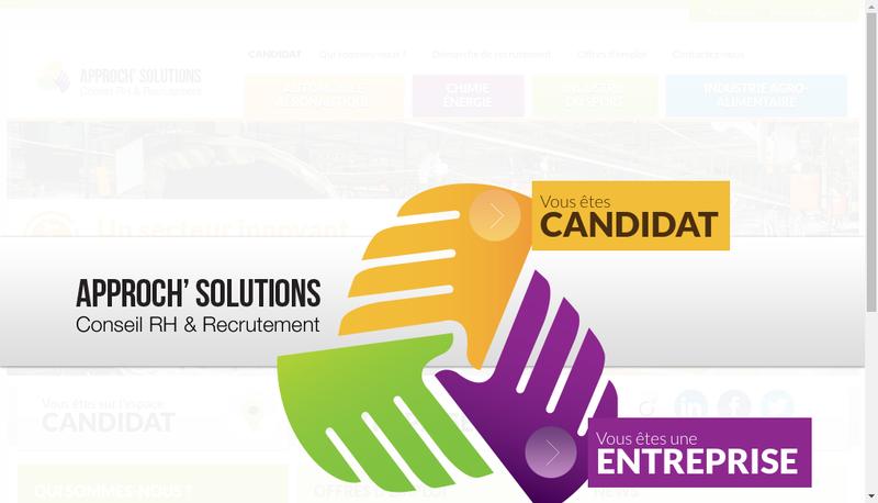 Capture d'écran du site de Approch'Solutions