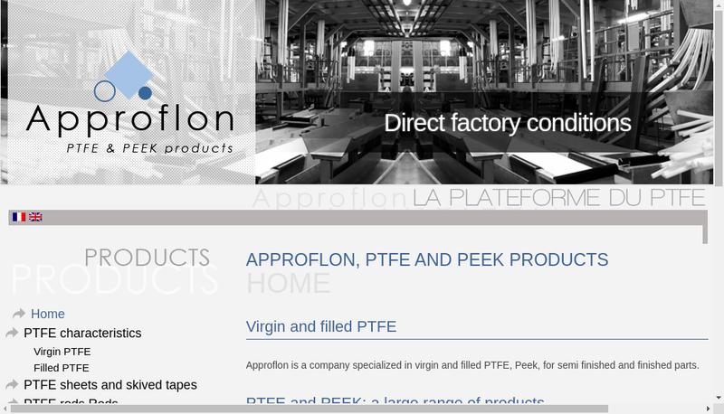 Capture d'écran du site de Approflon