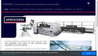Capture d'écran du site de Aproverre