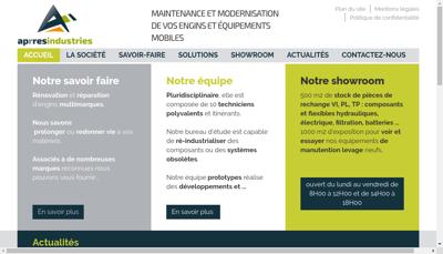 Capture d'écran du site de Aprres Industries