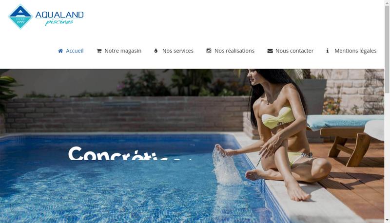 Capture d'écran du site de Aqualand Piscines