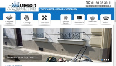 Site internet de Laboratoire Aqualithe