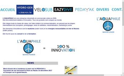 Site internet de L'Aquaphile