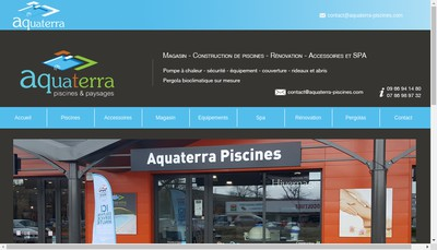 Site internet de Aquaterra
