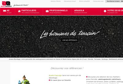 Capture d'écran du site de Aravis Enrobage