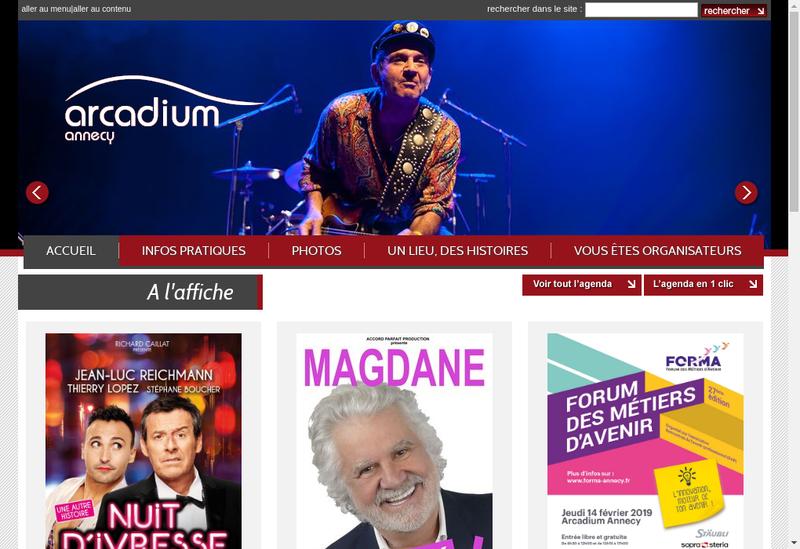 Capture d'écran du site de Arcadium